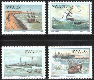 Почтовая марка Флот. Юго-Западная Африка. Михель № 613-616