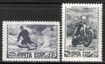 Почтовая марка СССР 1948 г Загорский № 1154-1155**
