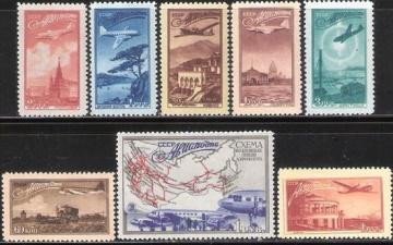 Почтовая марка СССР 1949 г Загорский № 1364-1371**