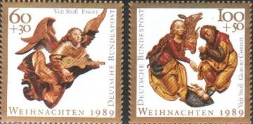 Рождество. Германия (ФРГ). Михель № 1442-1443