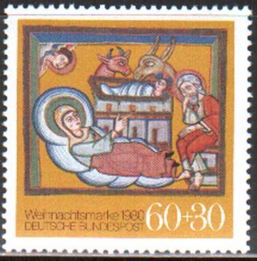 Рождество. Германия . Михель № 1066