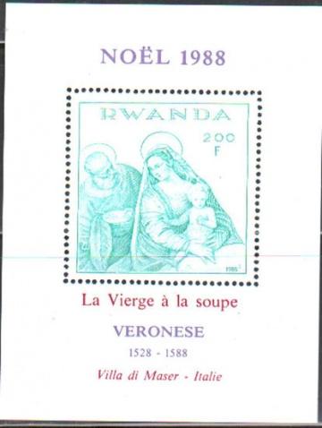 Рождество. Руанда. Михель блок № 106