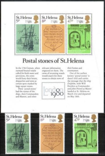 Почтовая марка Остров Святой Елены. Михель № 327-329, Блок 5