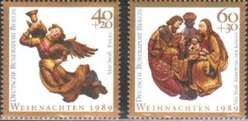 Рождество. Германия (ГДР). Михель № 858-859