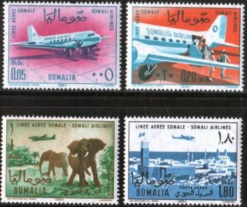 Почтовая марка Авиация 1. Сомали. Михель № 64-67