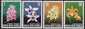 Почтовая марка Флора. Папуа-Новая Гвинея. Михель № 275-278
