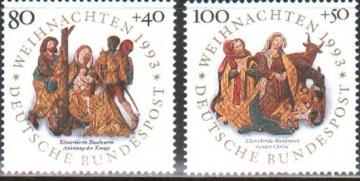 Рождество. Германия (ФРГ). Михель № 1707-1708