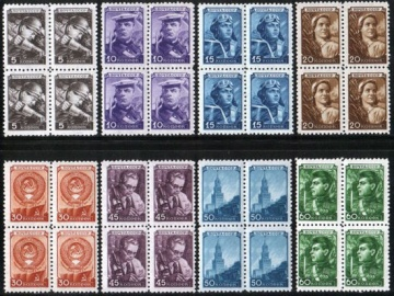 Почтовая марка СССР 1948 г Загорский № 1158-1165 квартблоки**