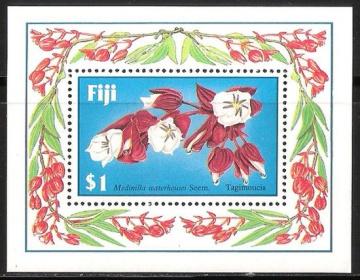 Почтовая марка Флора. Острова Фиджи. Михель № 565 ПБ № 7