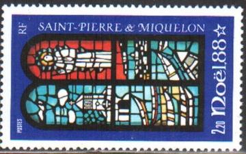 Рождество. Сен-Пьер и Микелон. Михель № 568