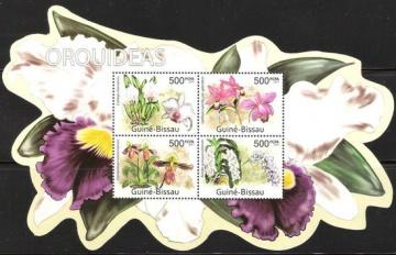Почтовая марка Флора. Гвинея-Бисау. Михель № ??? Блок № 07 (орхидея)