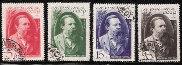 Гашеные почтовые марки СССР 1935 Загорский № 416-419