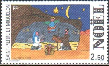 Рождество. Сен-Пьер и Микелон. Михель № 647