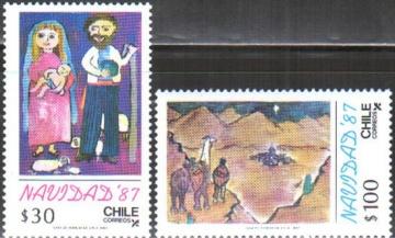 Рождество. Чили . Михель № 1209-1210