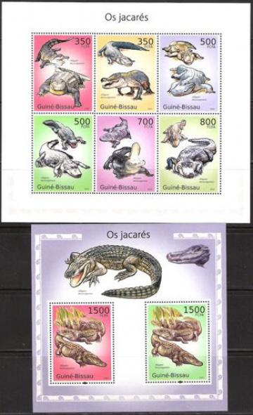Почтовая марка НК. Гвинея-Бисау. Михель № 5001-5006 и ПБ № 864